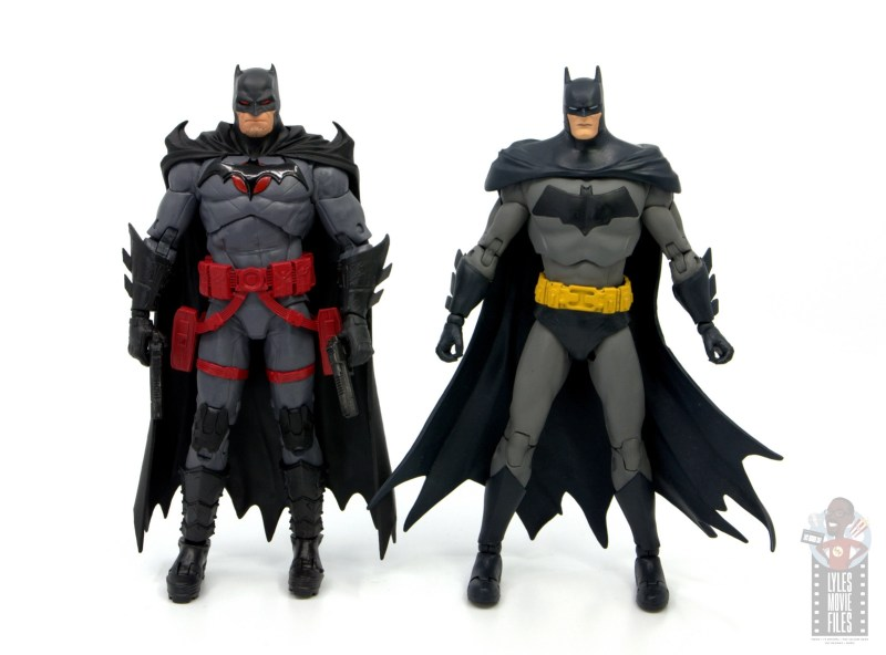 mcfarlane toys dc multiverse flashpoint batman figure review - scale with detective comics batman