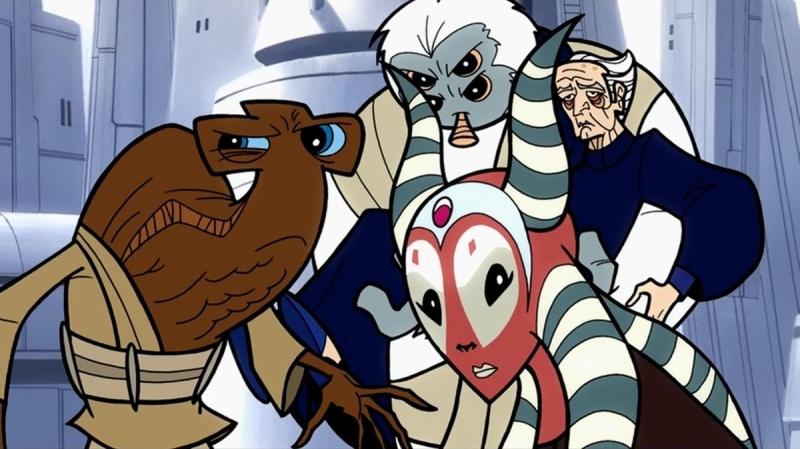 star wars clone wars cartoon - rescuing palpatine