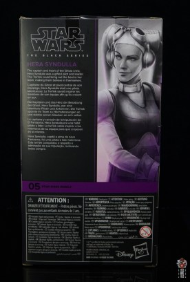 star wars the black series hera syndulla figure review - package rear