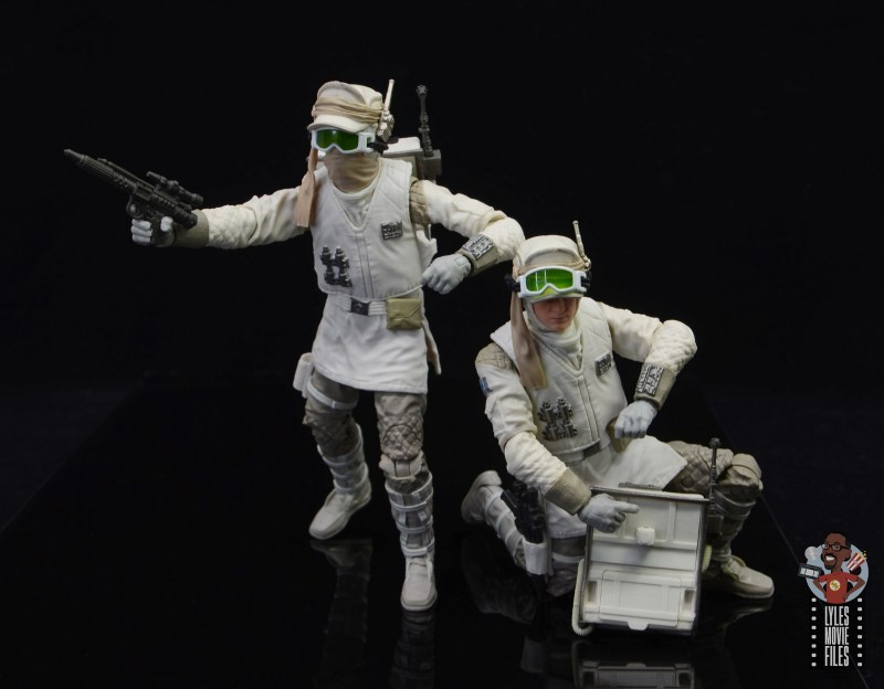 star wars the black series hoth trooper figure review - reaching into the back pack