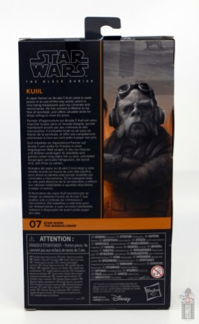star wars the black series kuill figure review - package rear