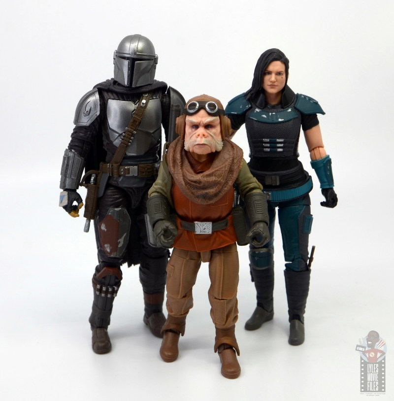 star wars the black series kuill figure review - scale with mando and cara dune