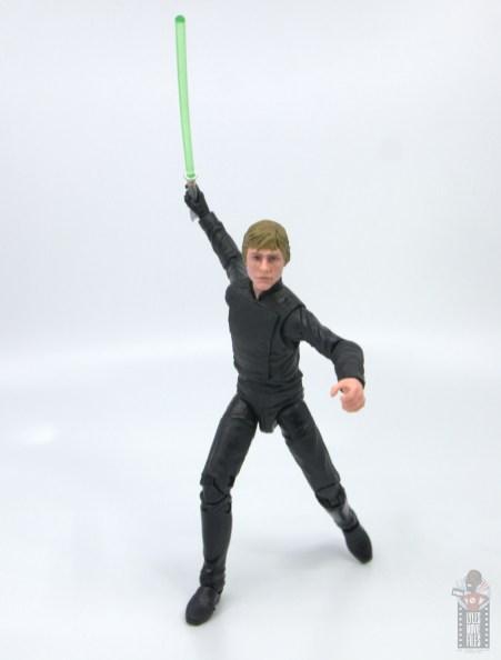 star wars the black series luke skywalker endor figure review -arching back lightsaber