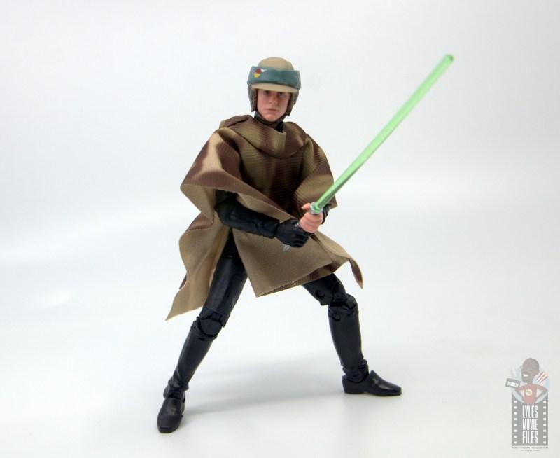 star wars the black series luke skywalker endor figure review -battle stance