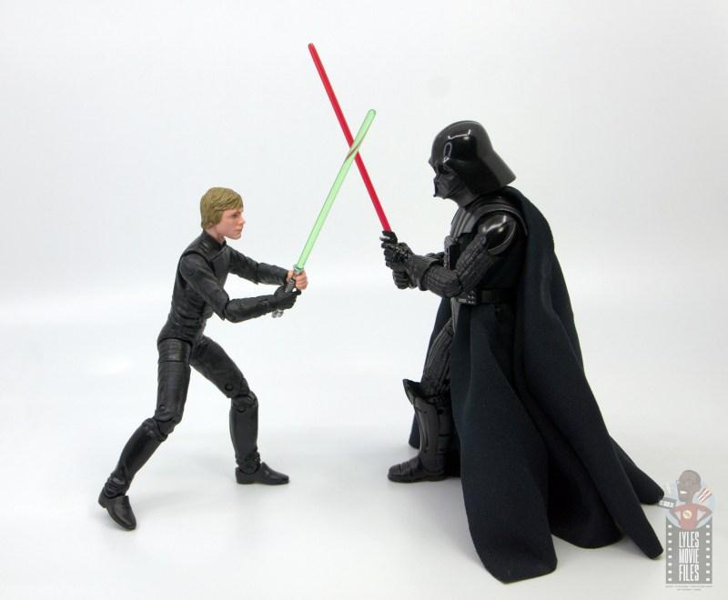 star wars the black series luke skywalker endor figure review - face off with darth vader