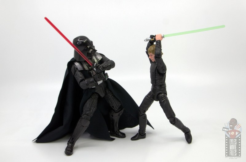 star wars the black series luke skywalker endor figure review - striking down darth vader
