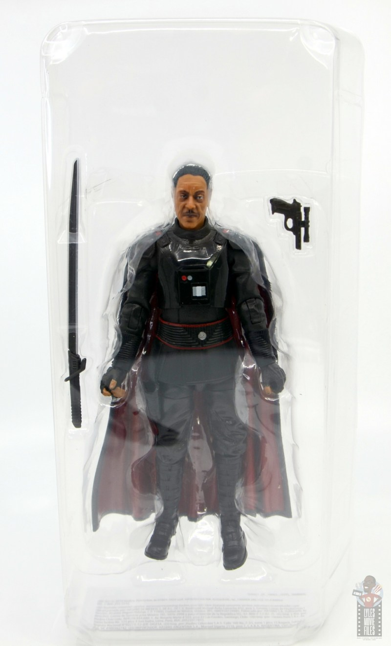 star wars the black series moff gideon figure review - accessories in tray