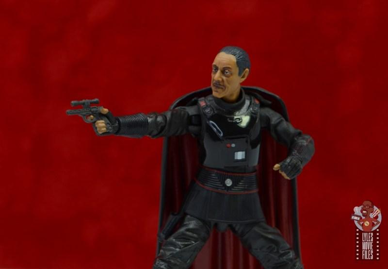 star wars the black series moff gideon figure review - aiming blaster