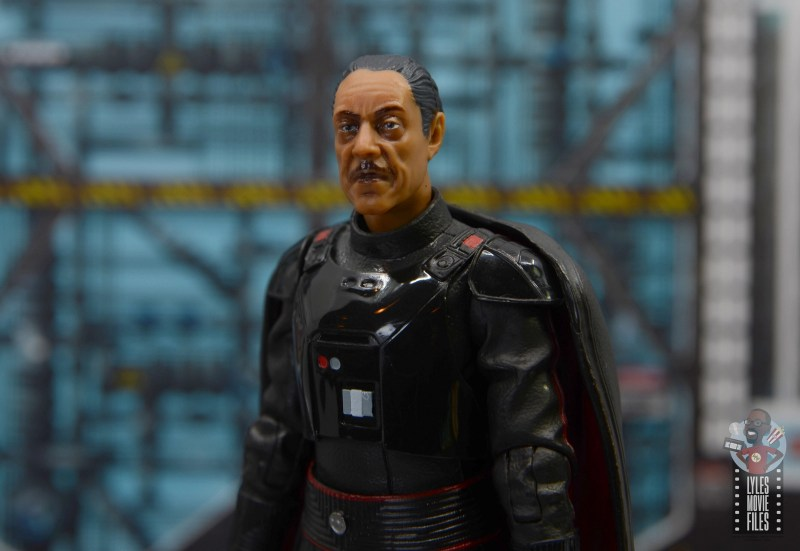 star wars the black series moff gideon figure review - close up shot