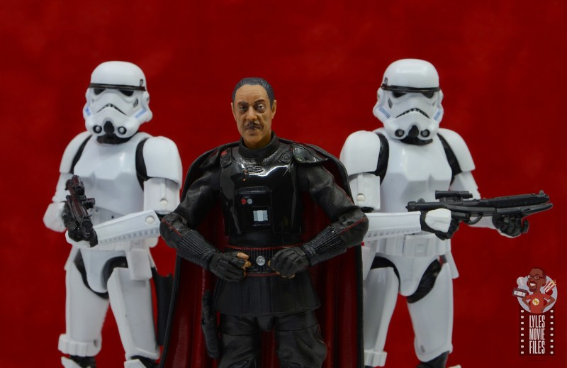 star wars the black series moff gideon figure review - flanked by stormtroopers