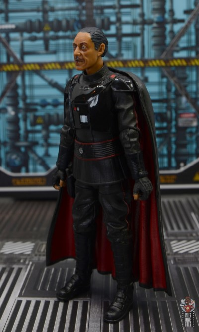 star wars the black series moff gideon figure review - left side