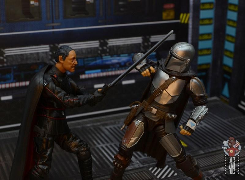 star wars the black series moff gideon figure review - slashing at the mandalorian