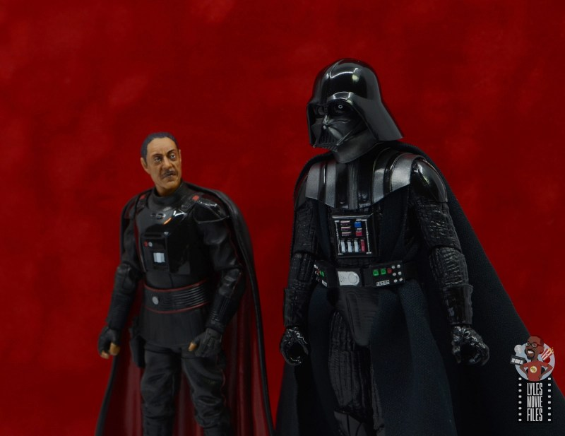 star wars the black series moff gideon figure review - talking with darth vader