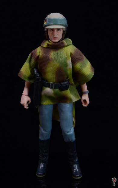 star wars the black series princess leia endor figure review - poncho front
