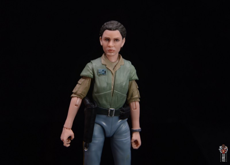 star wars the black series princess leia endor figure review -wide staging outfit pic