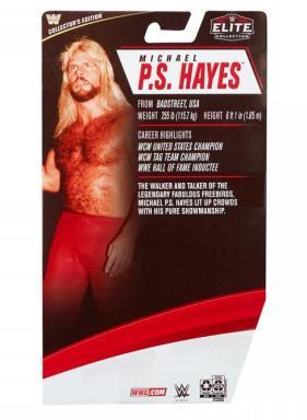 wwe elite 83 michael hayes - package rear