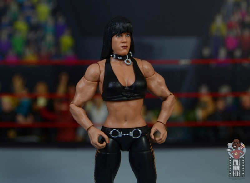 wwe triple h and chyna figure set review - chyna close up