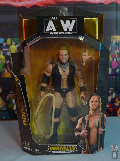 aew unrivaled hangman adam page figure review - package front