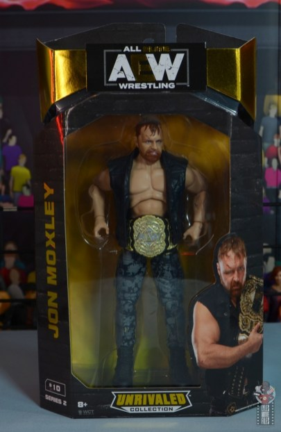 aew unrivaled jon moxley figure review - package front