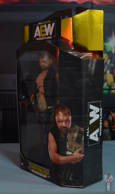 aew unrivaled jon moxley figure review - package left side
