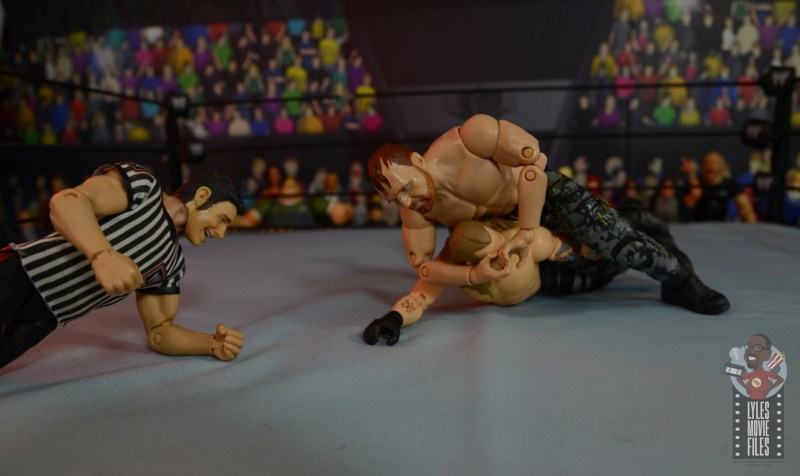 aew unrivaled jon moxley figure review - stf to chris jericho