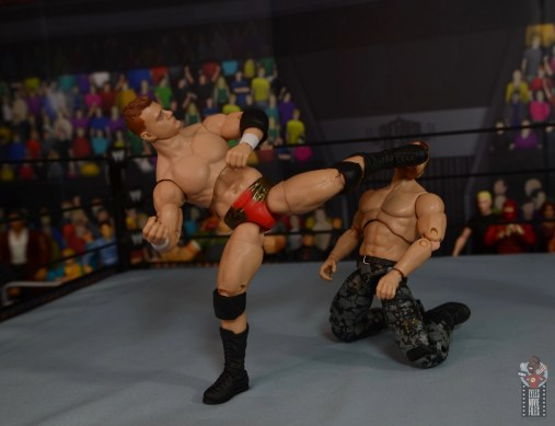 aew unrivaled mjf figure review -low level superkick to jon moxley