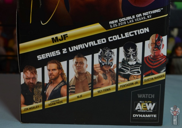 aew unrivaled mjf figure review -package stats