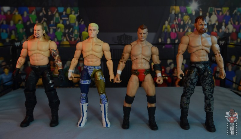 aew unrivaled mjf figure review -scale with chris jericho, cody rhodes and jon moxley