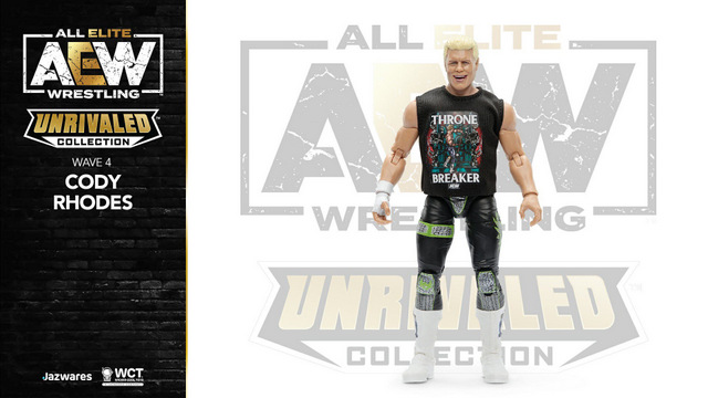 aew unrivaled wave 4 -cody rhodes - with new shirt