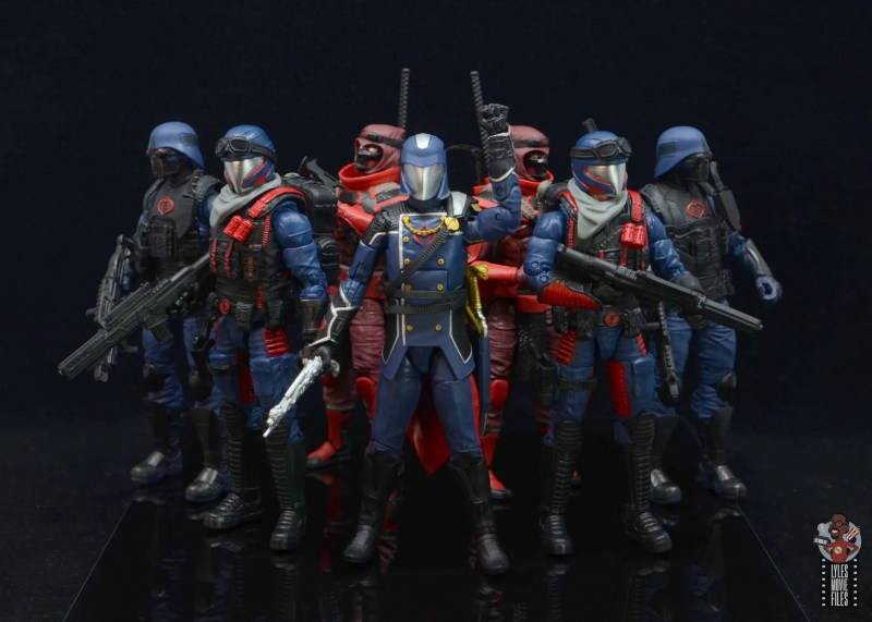 gi joe classified series cobra viper figure review - cobra army with cobra commander