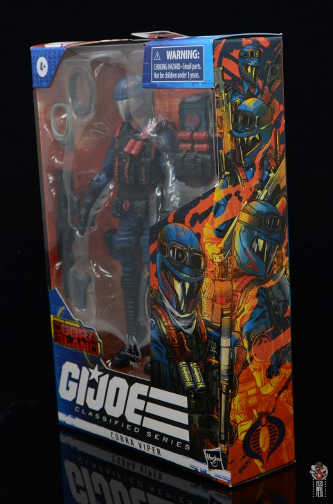 gi joe classified series cobra viper figure review - package artwork side