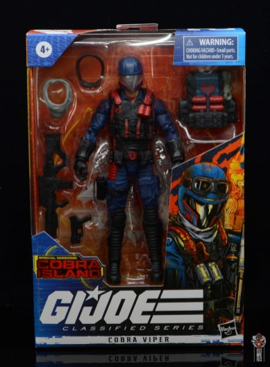 gi joe classified series cobra viper figure review - package front
