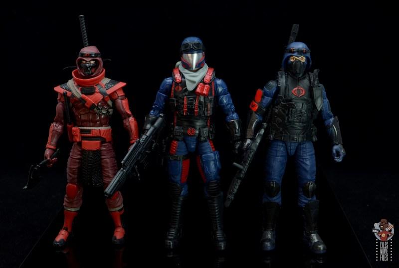 gi joe classified series cobra viper figure review - scale with red ninja and cobra trooper