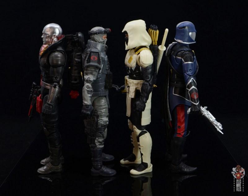 gi joe classified series firefly figure review - facing destro, storm shadow and cobra commander