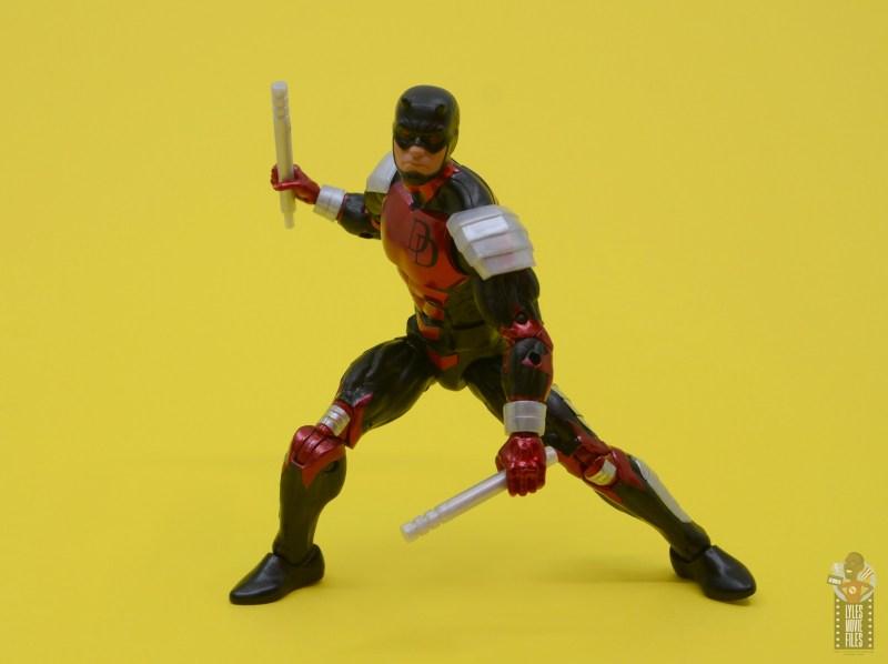 marvel legends retro vintage daredevil figure review -battle stance