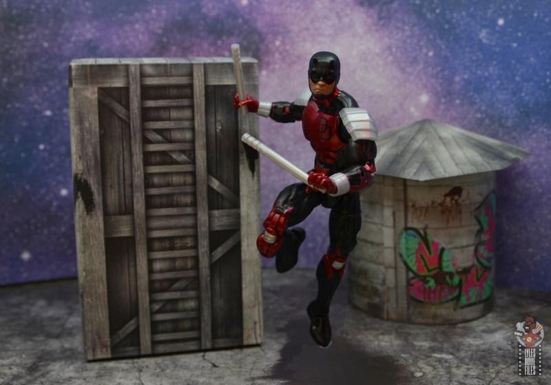 marvel legends retro vintage daredevil figure review - jumping