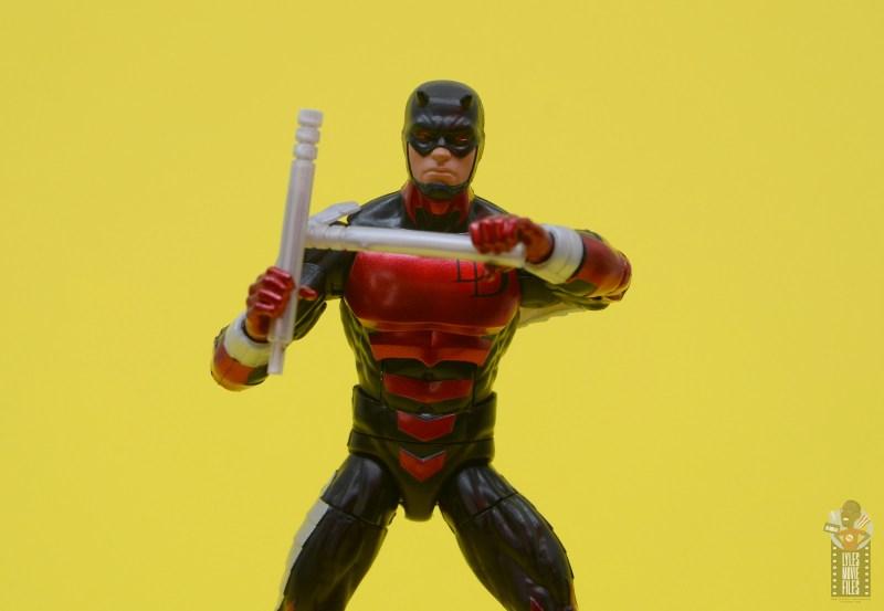 marvel legends retro vintage daredevil figure review - raising escrima sticks