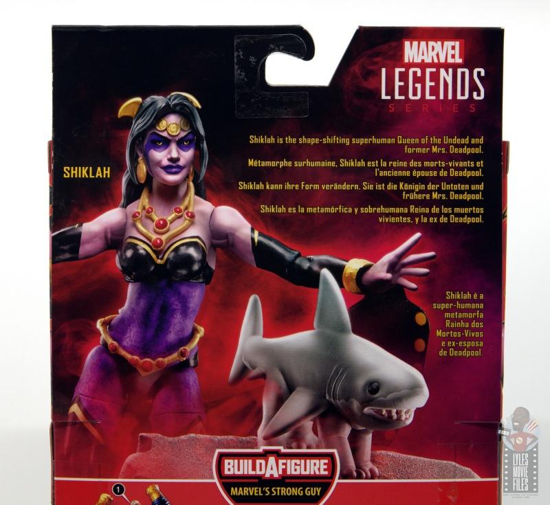 marvel legends shiklah figure review - package bio