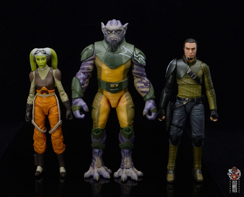 star wars the black series zeb orrelios figure review - scale with hera and kanan