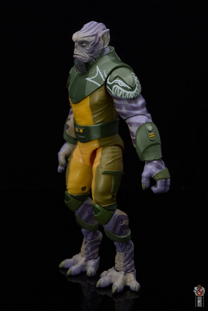 star wars the black series zeb orrelios figure review -side detail