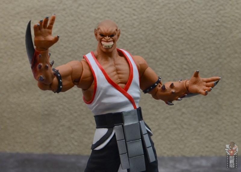 storm collectibles mortal kombat baraka figure review - arms wide