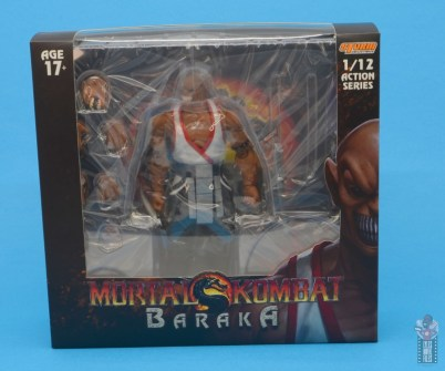 storm collectibles mortal kombat baraka figure review - package front
