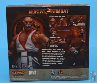 storm collectibles mortal kombat baraka figure review - package rear