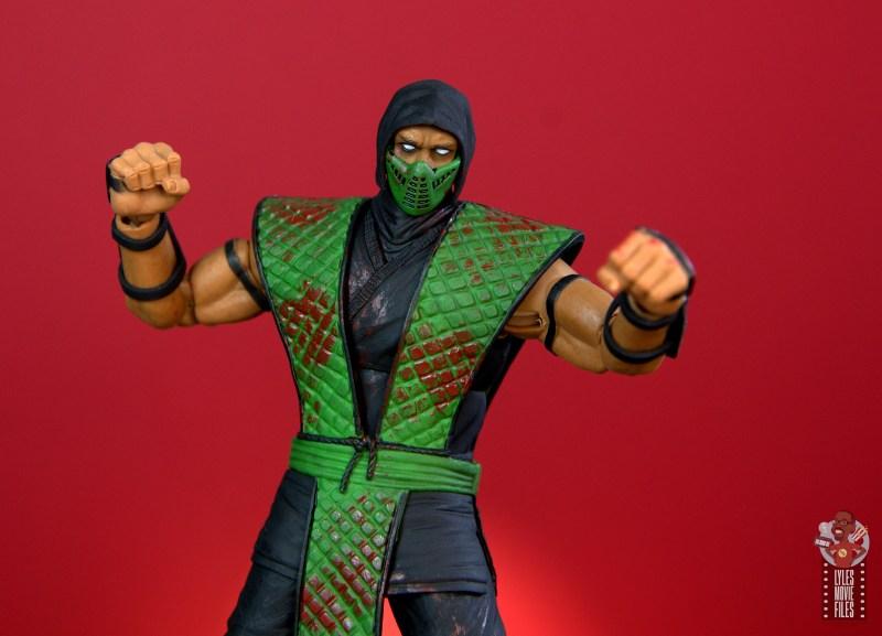 storm collectibles mortal kombat reptile figure review -battle stance