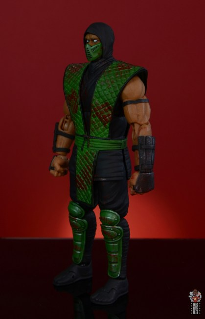 storm collectibles mortal kombat reptile figure review - left side