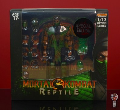 storm collectibles mortal kombat reptile figure review - package front