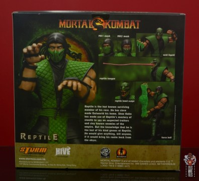 storm collectibles mortal kombat reptile figure review - package rear
