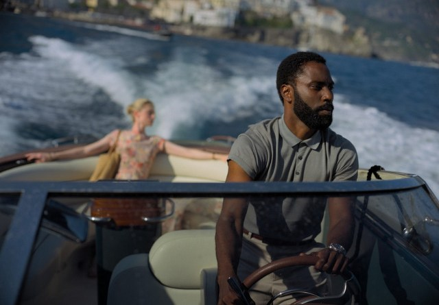 tenet review - elizabeth debicki and john david washington