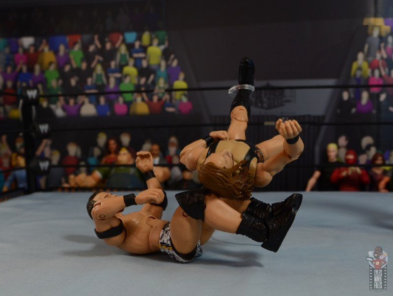 wwe elite 72 roderick strong figure review - back breaker to pete dunne