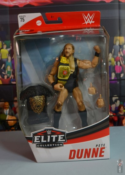 wwe elite 75 pete dunne figure review - package front